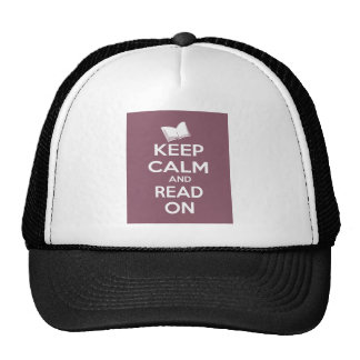 Keep Calm and Read On Trucker Hat