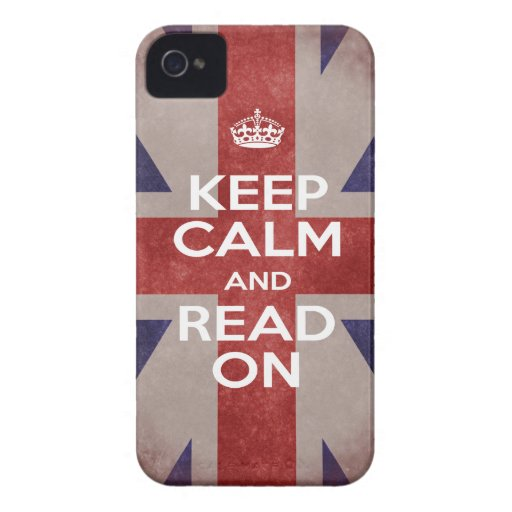 Keep Calm and Read On Union Jack iPhone 4 Cases