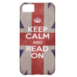 Keep Calm and Read On Union Jack iPhone 5C Cases