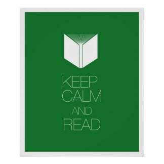 Keep Calm and Read Poster