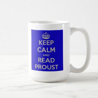 Keep Calm and Read Proust Mug