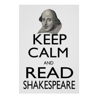 Keep Calm and Read Shakespeare Poster