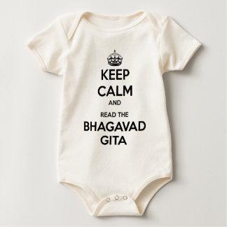 Keep Calm and Read the Bhagavad Gita Baby Creeper