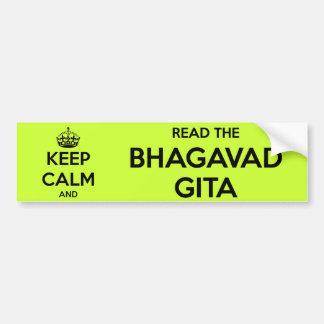 Keep Calm and Read the Bhagavad Gita Bumper Sticker