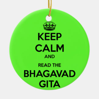 Keep Calm and Read the Bhagavad Gita Double-Sided Ceramic Round Christmas Ornament