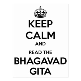 Keep Calm and Read the Bhagavad Gita Postcard