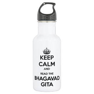 Keep Calm and Read the Bhagavad Gita Water Bottle