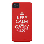 Keep Calm and Read The Question (all colors) Case-Mate iPhone 4 Cases