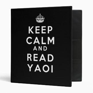 Keep Calm and Read Yaoi 3 Ring Binder