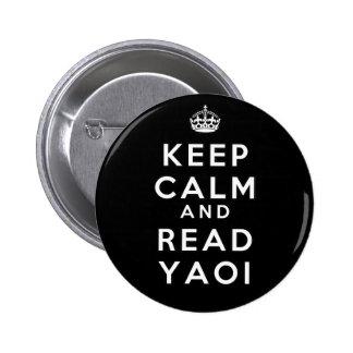 Keep Calm and Read Yaoi Button