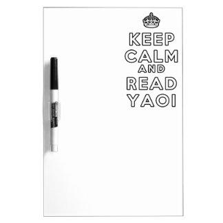 Keep Calm and Read Yaoi Dry Erase Board