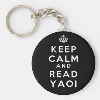 Keep Calm and Read Yaoi Keychain
