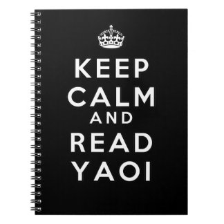 Keep Calm and Read Yaoi Notebook