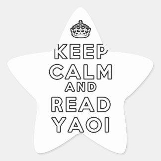 Keep Calm and Read Yaoi Star Sticker
