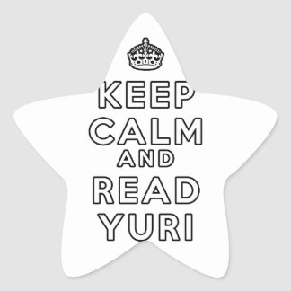 Keep Calm and Read Yuri Star Sticker