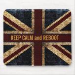 keep calm and reboot mousepad