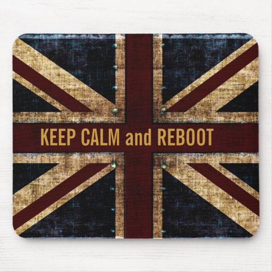 keep calm and reboot mousepad