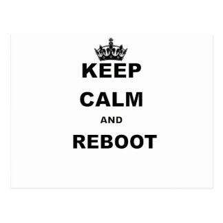 KEEP CALM AND REBOOT.png Postcard