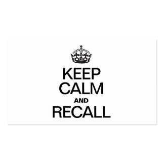 KEEP CALM AND RECALL BUSINESS CARDS