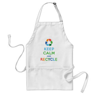 Keep Calm and Recycle Adult Apron
