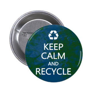 Keep Calm and Recycle Buttons
