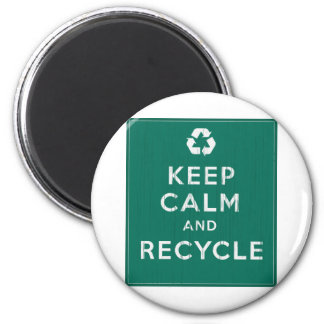 Keep Calm and Recycle Magnet