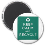 Keep Calm and Recycle Magnets