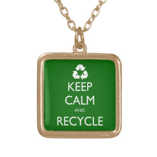 Keep Calm and Recycle Necklace