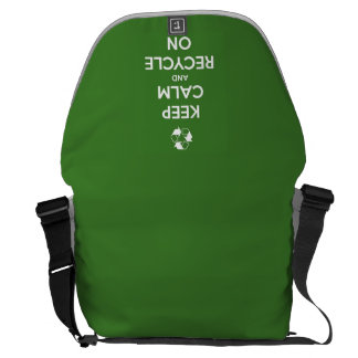 Keep Calm and Recycle On Green Courier Bag