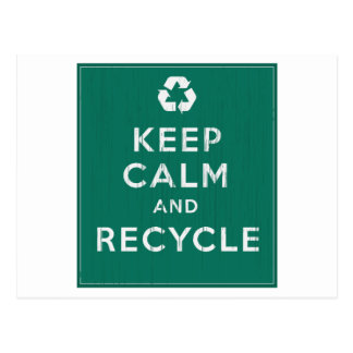 Keep Calm and Recycle Postcard
