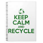 KEEP CALM AND RECYCLE SPIRAL NOTEBOOKS