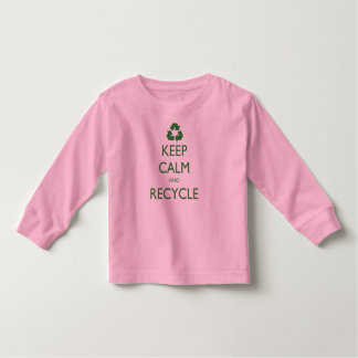 Keep Calm and Recycle Toddler T-shirt