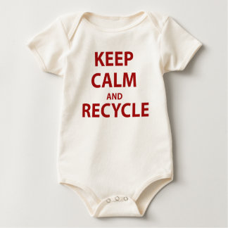 Keep Calm and Recycle Baby Bodysuit