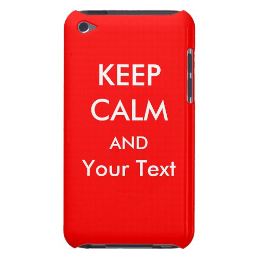 KEEP CALM AND - Red Custom iPod Touch Case