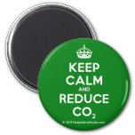 Keep Calm and Reduce CO2 2 Inch Round Magnet
