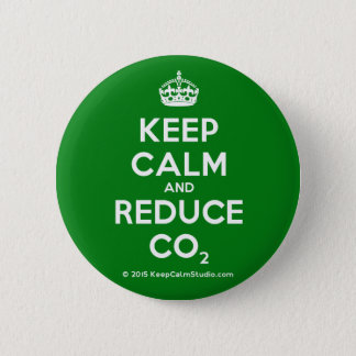 Keep Calm and Reduce CO2 Pinback Button