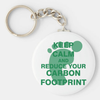 Keep Calm and Reduce Your Carbon Footprint Keychain