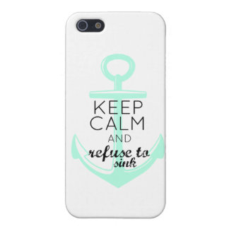 Keep Calm and Refuse to Sink iPhone SE/5/5s Case
