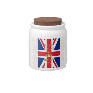 Keep calm and reign on candy jars