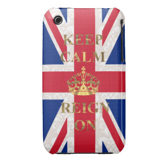Keep calm and reign on iPhone 3 Case-Mate cases