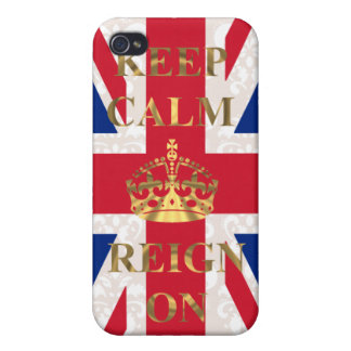 Keep calm and reign on cover for iPhone 4