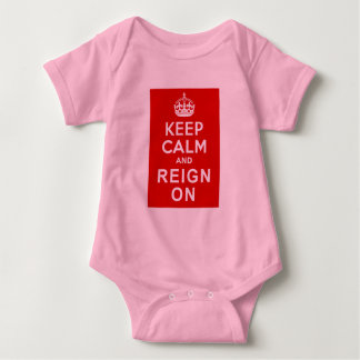 Keep Calm and Reign On Diamond Jubilee Gifts Baby Bodysuit