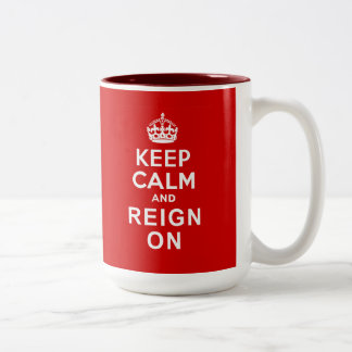 Keep Calm and Reign On Diamond Jubilee Gifts Two-Tone Coffee Mug