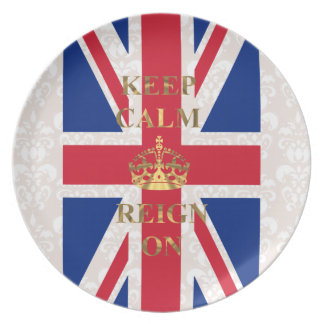 Keep calm and reign on dinner plate