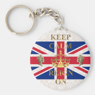 Keep calm and reign on keychain