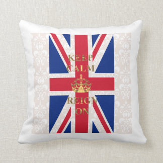 Keep calm and reign on throw pillow