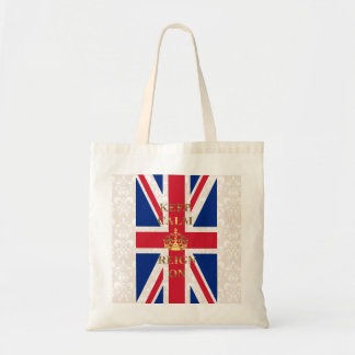 Keep calm and reign on tote bag