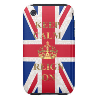 Keep calm and reign on tough iPhone 3 cover