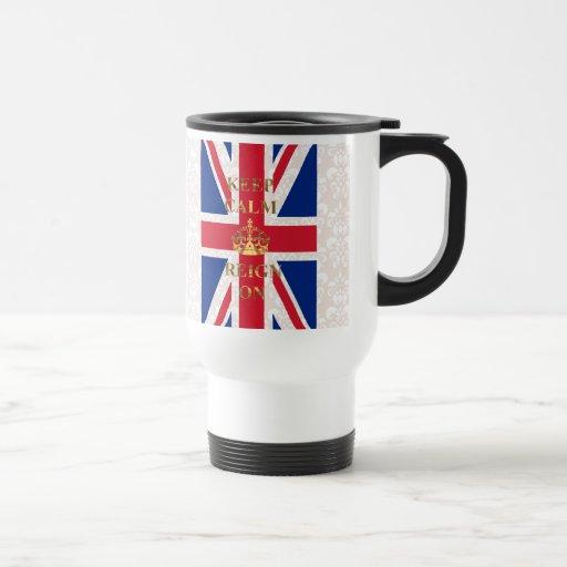 Keep calm and reign on travel mug