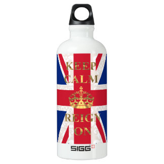 Keep calm and reign on water bottle
